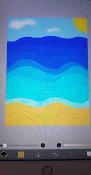 Beach Background via IPad