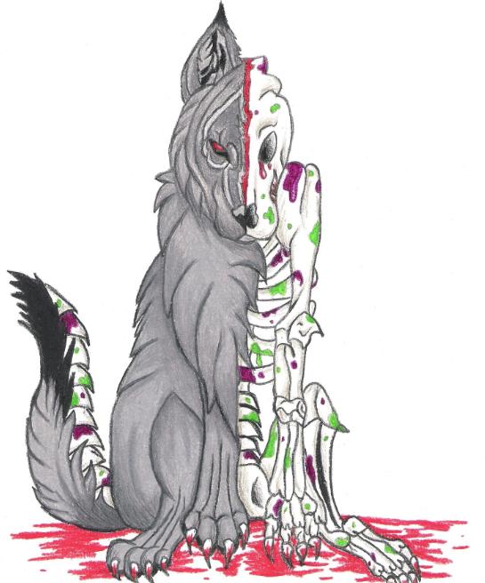 Zombie Animals Drawing Zombie wolf by atrixwolfxZombie Wolf Drawing