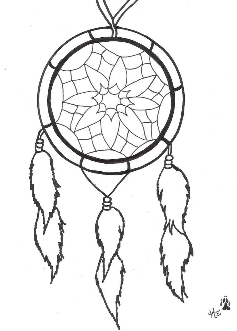 Dream catcher tattoo by atrixwolfx on deviantart for Dream catcher tattoo template