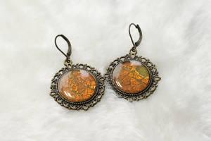 Handmade polymer clay earrings Vintage by EvrazhkaStudio