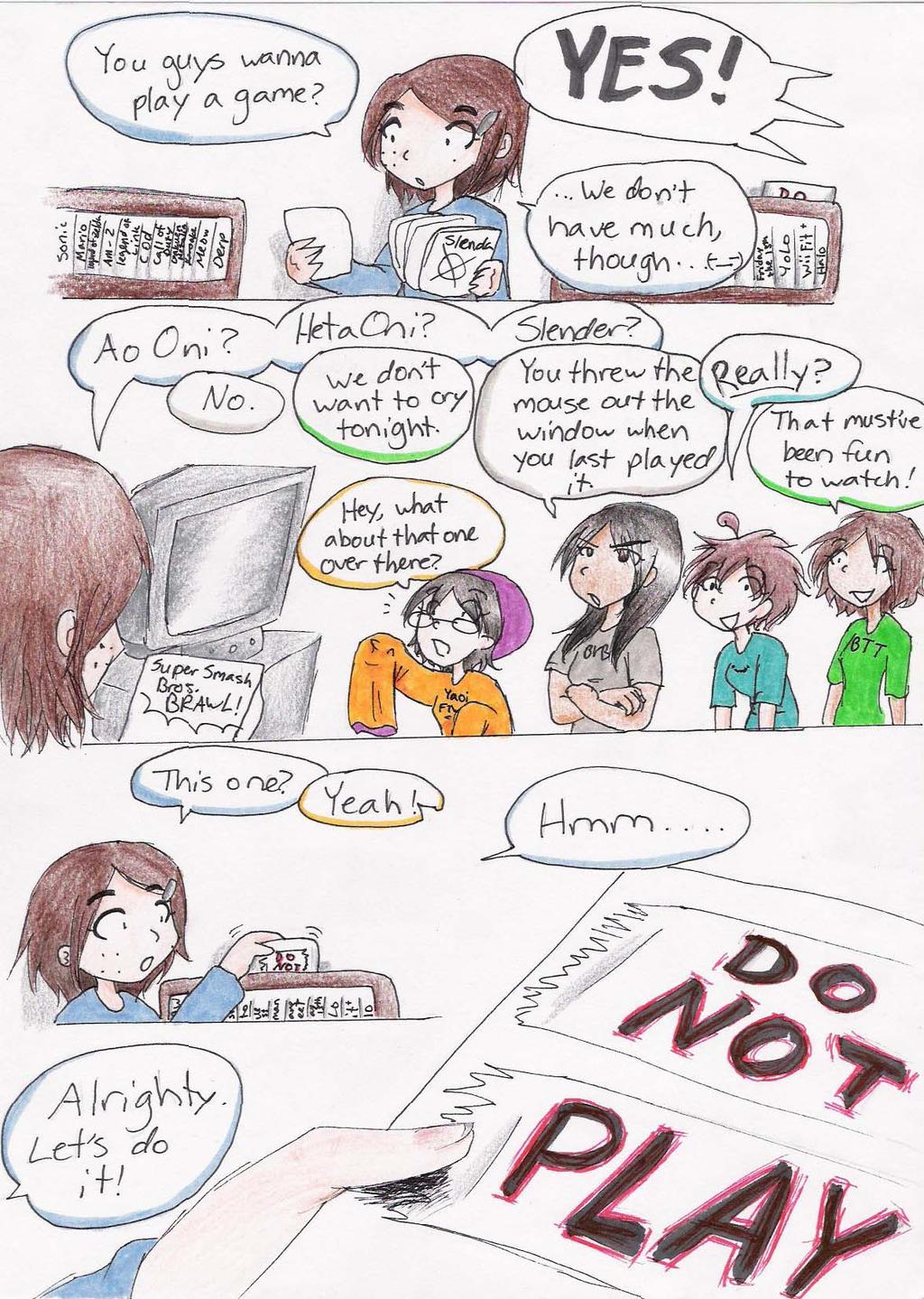 DO NOT PLAY- page 1 by GlitterGeekAngel