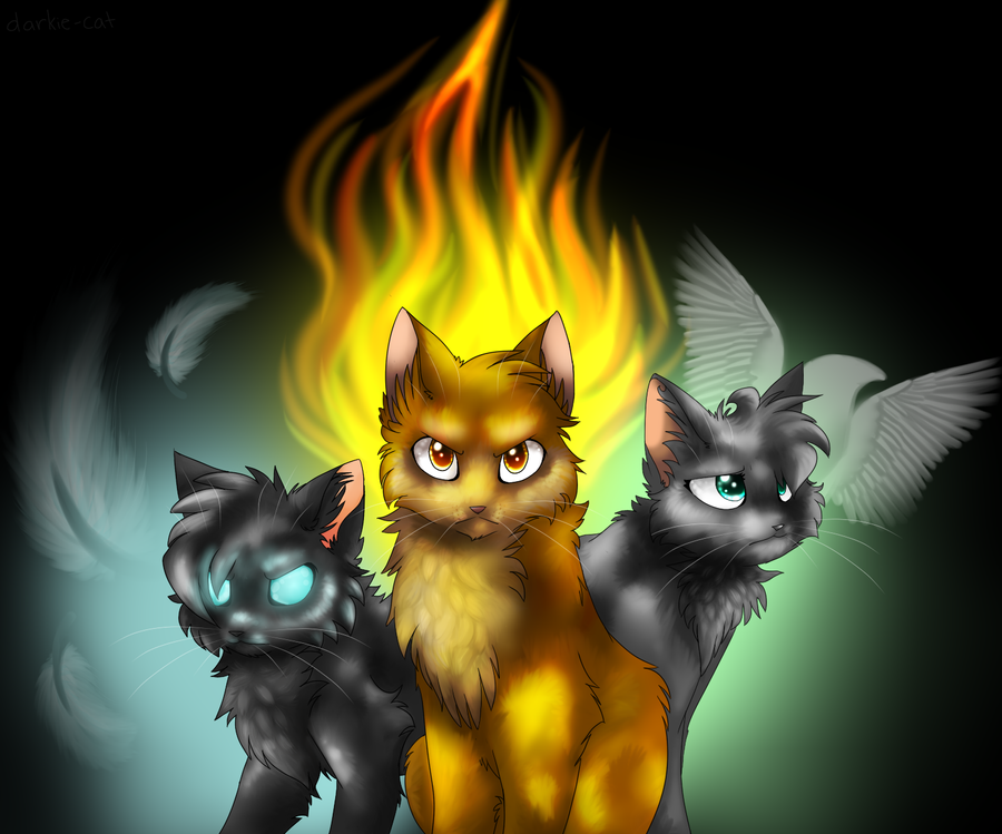 We are the three by yeagar on deviantart The three cats