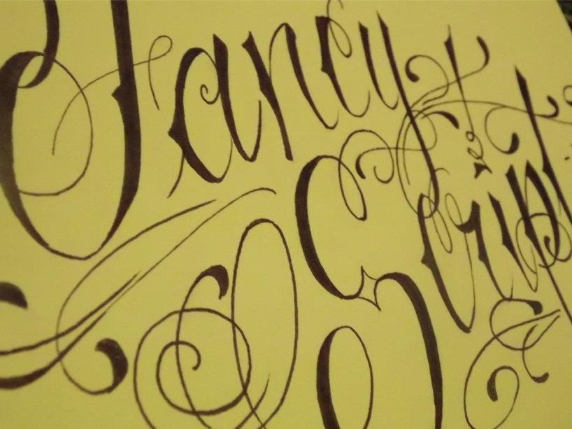 Fancy script 2 by love art type on deviantart Script art