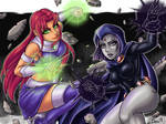 Starfire X Raven / DC COMICS