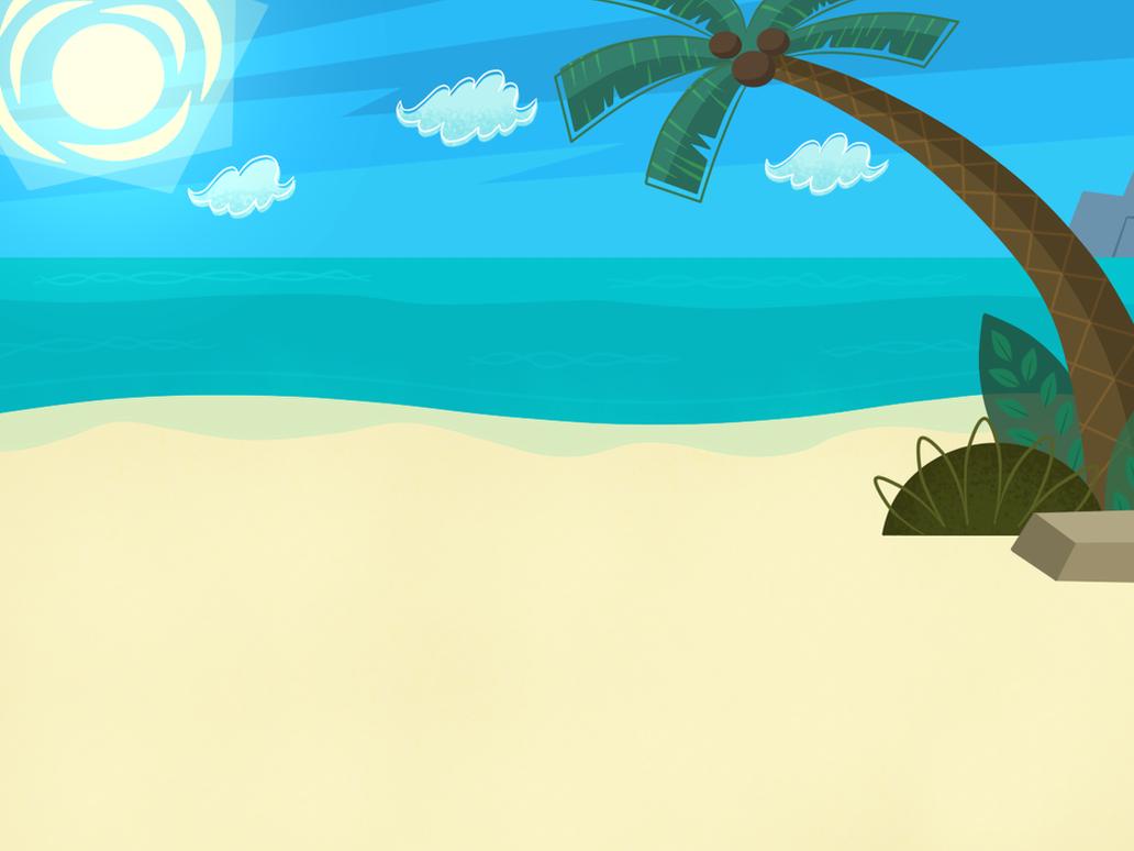 Cartoon Beach Wallpaper: Beach Background By XxGaby-23xx On DeviantArt