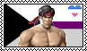 Demisexual Heteroromantic Liu Kang Headcanon Stamp by xxGaby-23xx