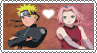 Naruto x Sakura - Stamp by xxGaby-23xx