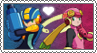 Megaman.EXE x Roll.EXE - Stamp by gaby-sunflower