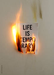 Life is temporary by WRDBNR