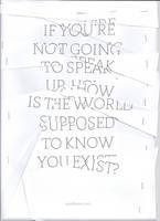 Speak Up by WRDBNR