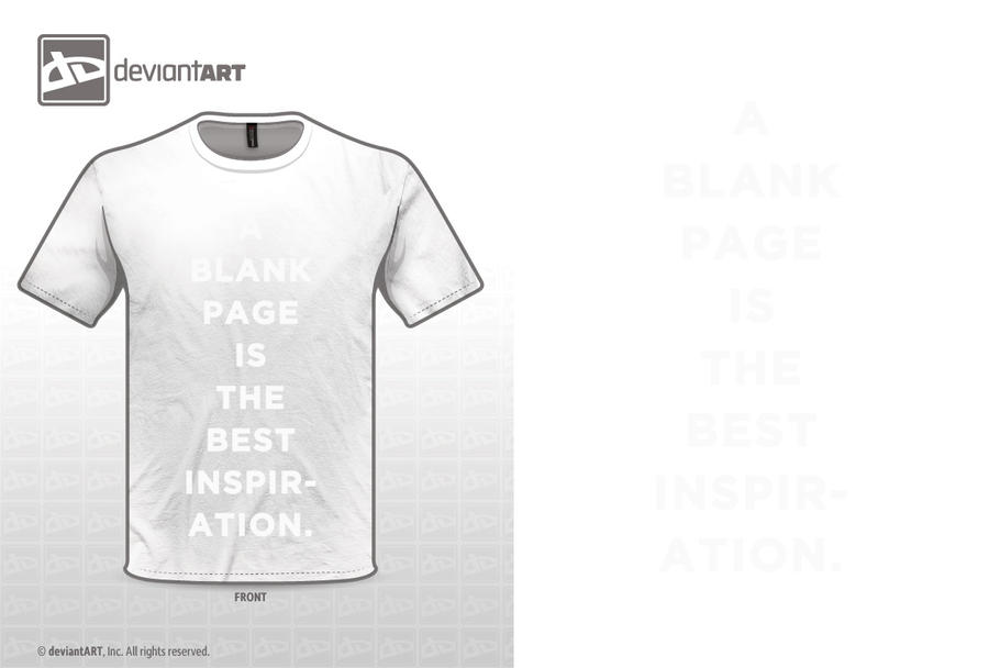 A Blank Page Is The Best Inspiration by WRDBNR