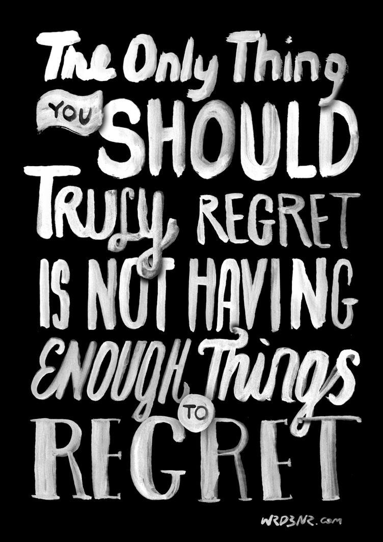 Truly Regret by WRDBNR