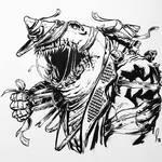 Cyberpunk Mutant Mummy Shark