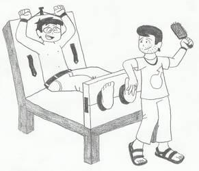 Ticklish guys