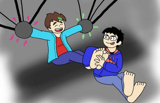 Roland tickles Xander