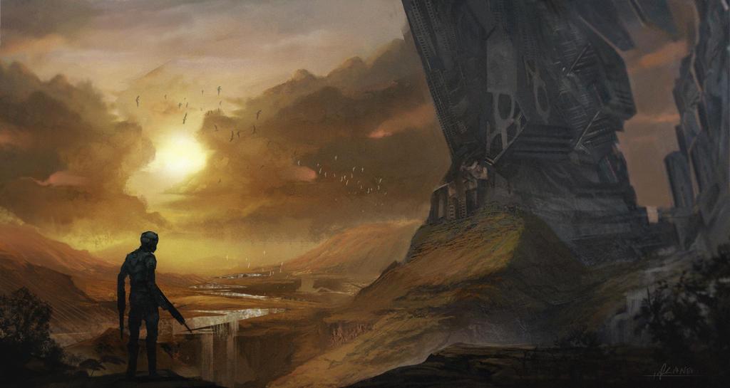Fantasy war landscape - photo#7