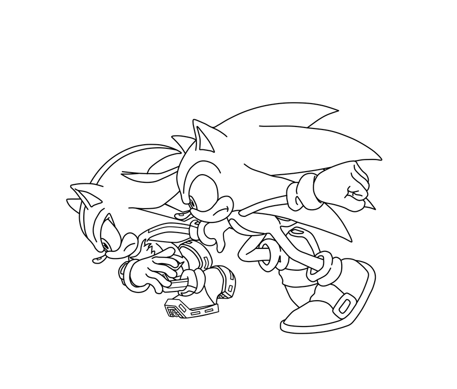 shadow and sonic coloring pages | Sonic Vs. Shadow LA by ZeroR102 on DeviantArt