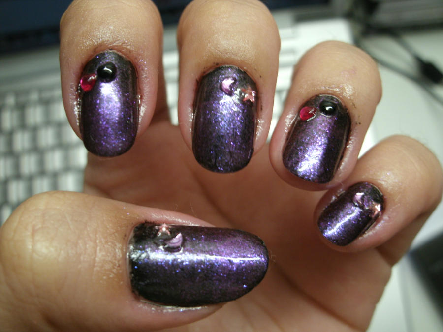 Black-Purple Gradient Nail Art by kirarachan on DeviantArt