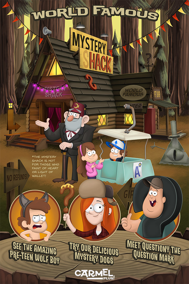 Gravity Falls Mystery Shack by CarmelPLUS