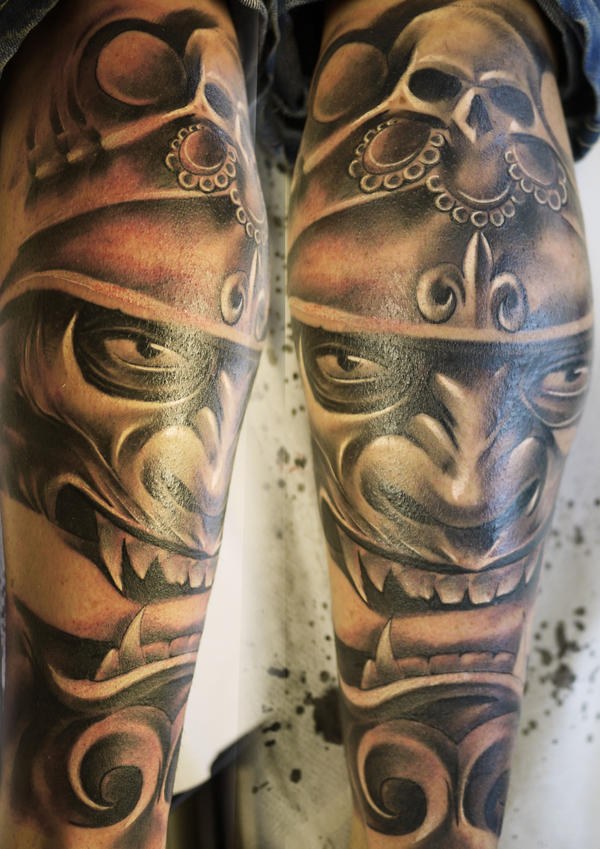 samurai mask tattoo by tomyslav on deviantart. Black Bedroom Furniture Sets. Home Design Ideas