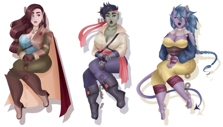[OPEN 3/3] Dungeons and Dragons Races by Twiliadopts