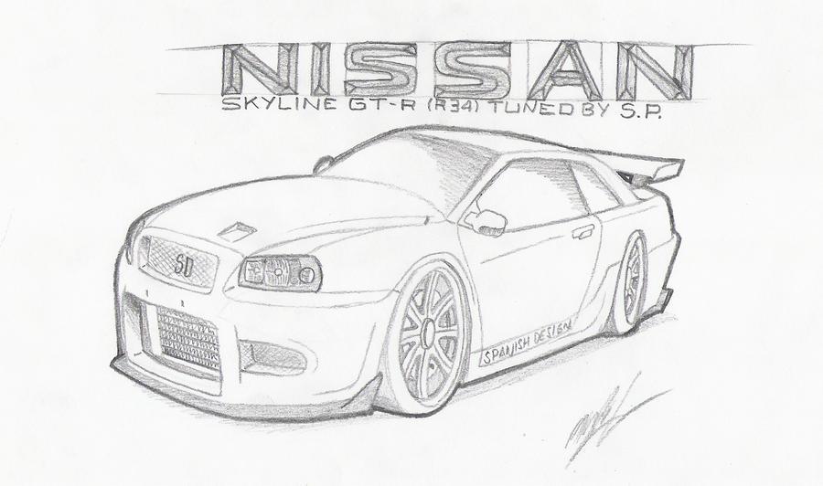 Line Drawing Nissan Gtr : Nissan skyline gt r s p by zellgrosteelfire on deviantart