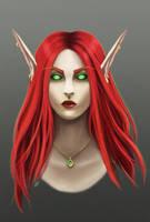 Redhead by AnsaellArt