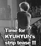 Kyuhyun - Strip! Macro by JadeRiverJR