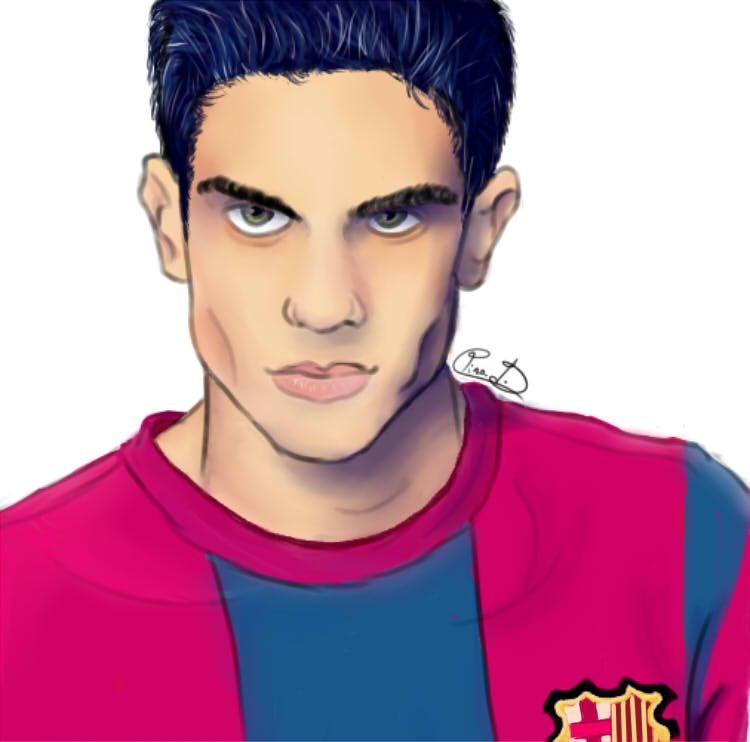 FCB players: Marc Bartra by Griffiney