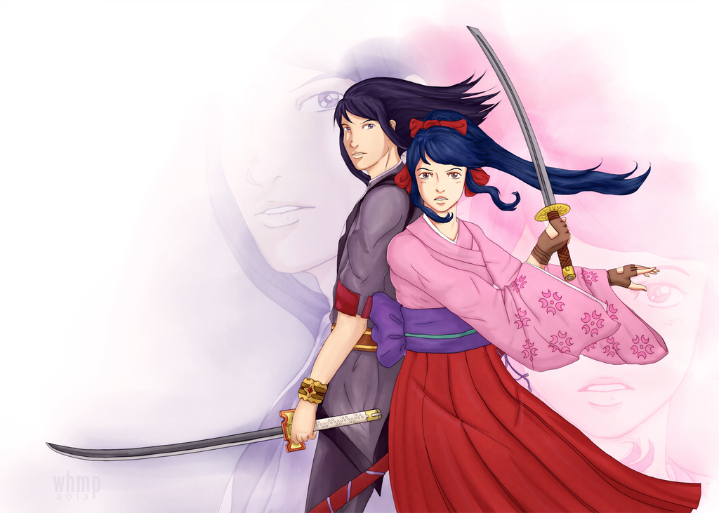 Yuri and Sakura Vesperia X Sakura Wars Crossover by Magihat