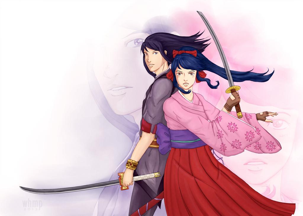 Yuri and Sakura Vesperia X Sakura Wars Crossover by Magihat