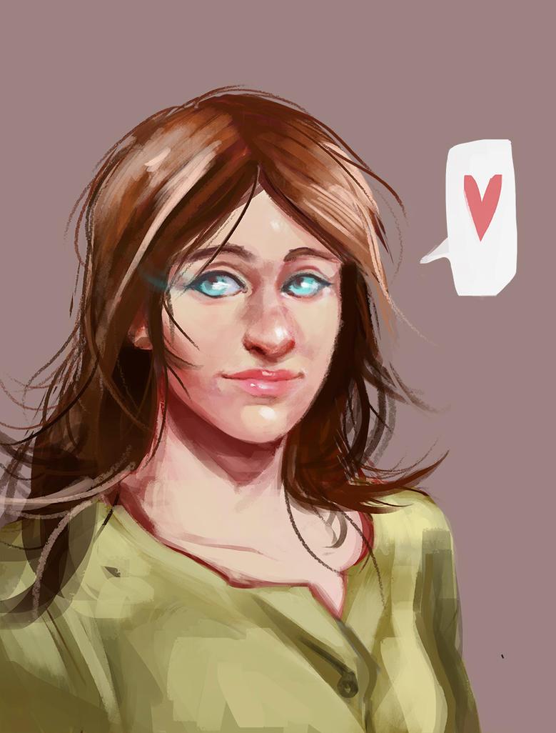 Alondra sketch portrait by Charneco