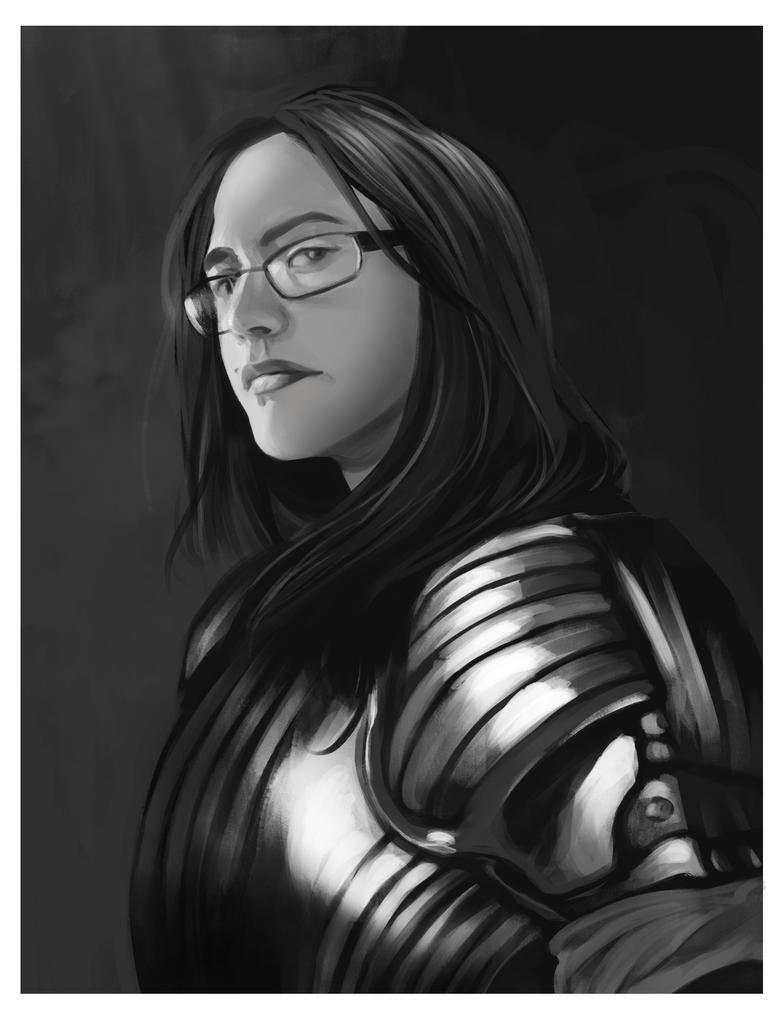Self Portrait study by Charneco