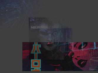 Neuromancer collage wallpaper for smallish screen