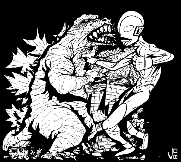 Godzilla Vs Ultraman By Drull On Deviantart