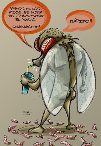 hombre mosca: