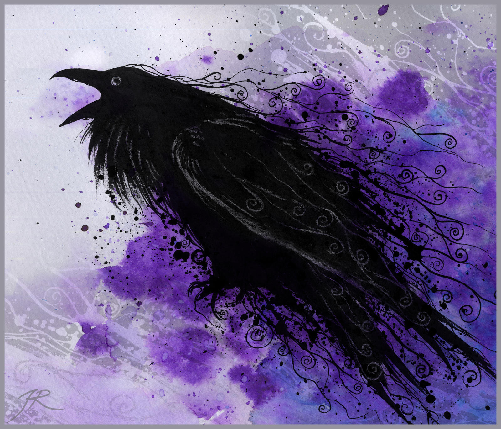 My dream raven by JR-Dragona