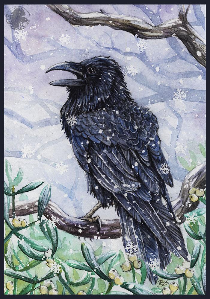 Corvus corax by JR-Dragona