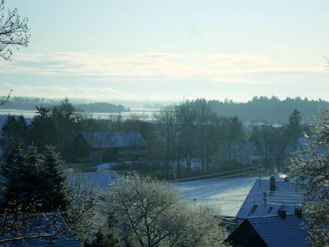 Cold village morning
