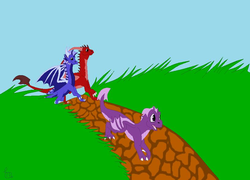 CI: Walking in the meadow by Blue-Dragons-Fan