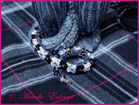 Black and White Chess Bracelet