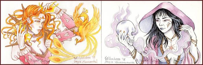 Witchtober2018: Day 4/5 - Elemental/Necromancer