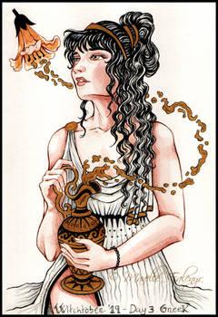 Witchtober2019:  Day 3 - Greek Witch