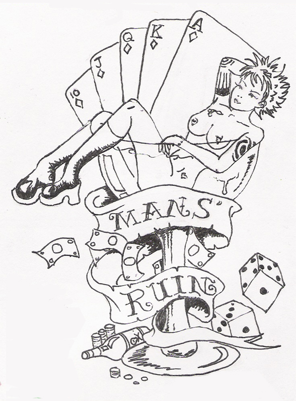 drug sex money tattoo designs for men in Newark