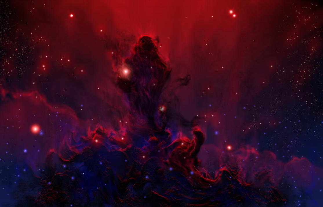 blue and red pheonix nebula - photo #40