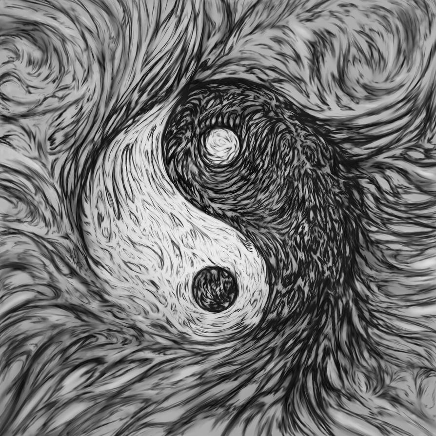 Abstract Lion With Yin Yang: Yin Yang Abstract By SteveAllred On DeviantArt