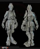 Salarian STG Sculpt final by MESMURDA