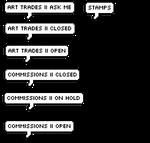 Art Status Text Buttons
