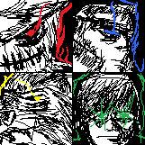 Wizard of oz Mug shot sketches