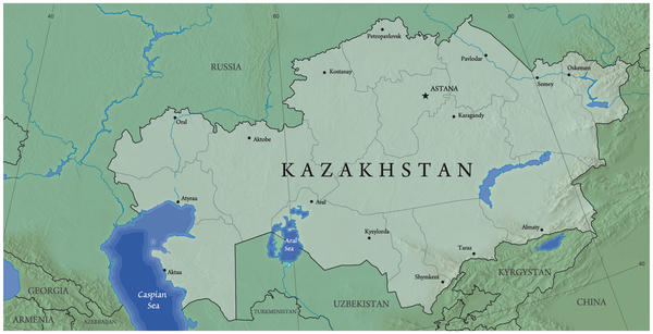 physical map of malawi. Physical map of Kazakhstan by